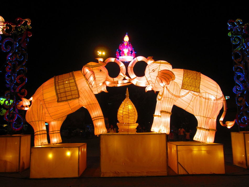 Architecture Beautiful Chaingmaithailand Chinese Lantern Festival Chinese New Year Cultures Night No People Travel Destinations