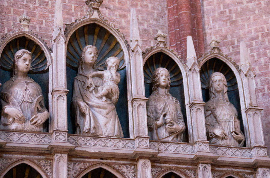 Arch Architecture Church Church Of The Brothers Day Europe Italy Madonna Medieval No People Renaisa Saints Santa Maria Gloriosa Dei Frari Sculpture Statue Venice Venice, Italy