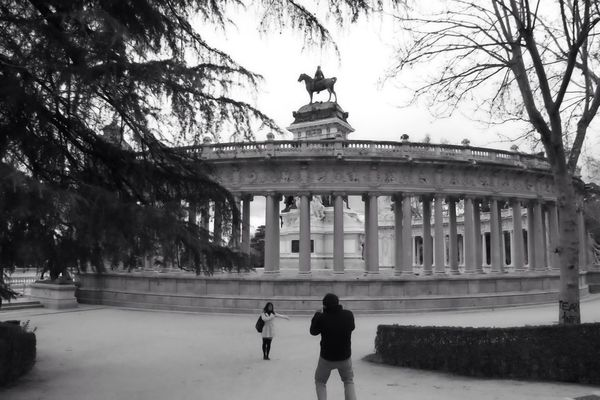 blackandwhite at Parque del Retiro by Luishs