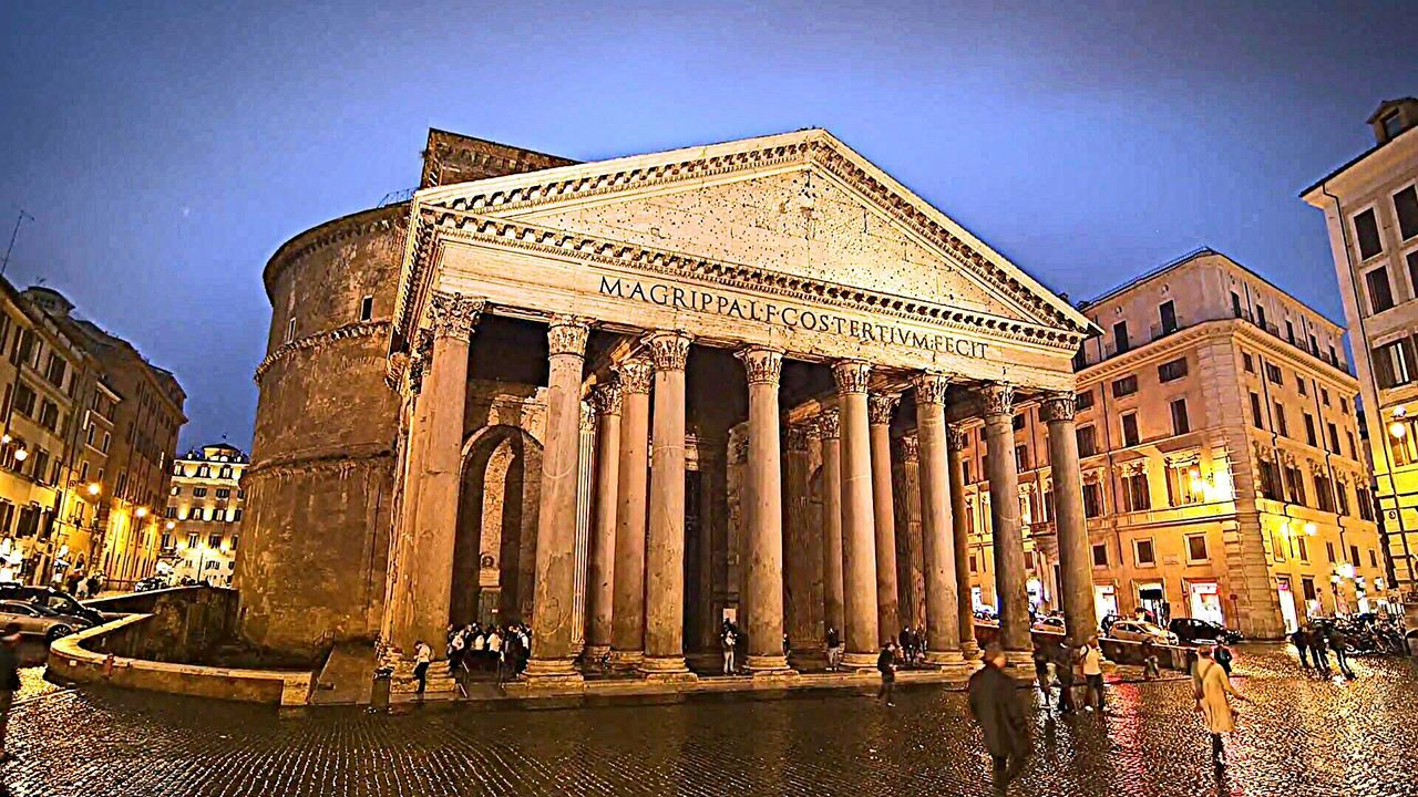 Pantheon Architecture Rome Rome Italy🇮🇹 Rome By Night Colour Photography Architecture_collection History Cityscape Multi Colored Night Outdoors Illuminated Travel Destinations Architecture City Rome, Italy Reflection Colums