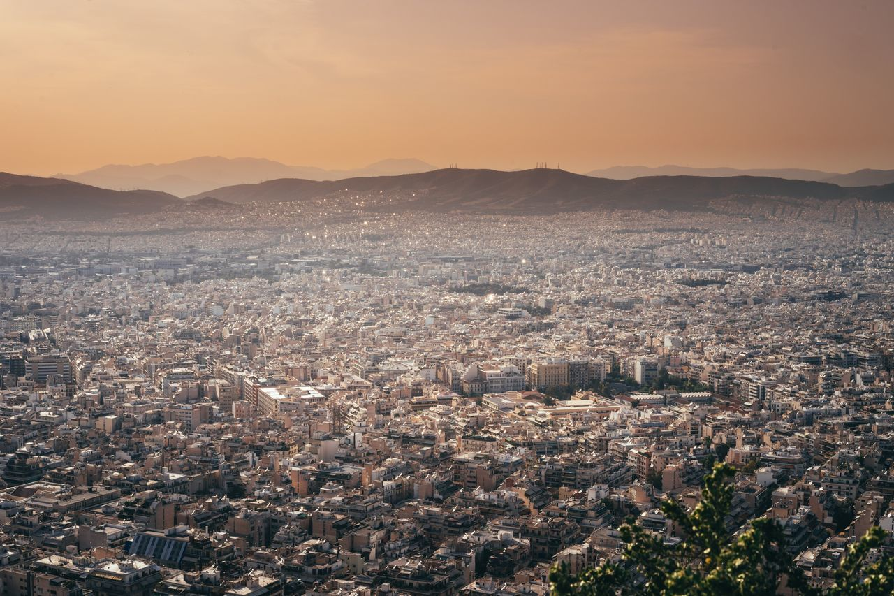 Athens, Greece Sightseeing Lycabettus Sundowner Time