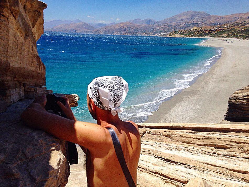 beach..😎🌊 Triopetra Beach Best  Nature Vacations Lifestyles Sky Landscape Sea Sand Perfect Amazing Nice Beautiful Colors Crete Greece Holiday Like Love Followme