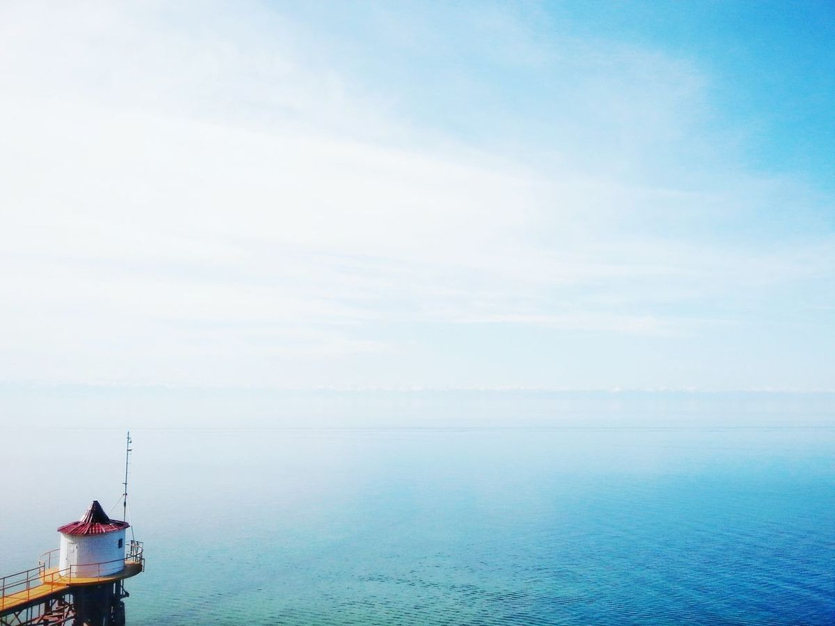 Magnificent Lake Baikal Cloud - Sky Sky Horizon Over Water Scenics Outdoors Tranquility Day Nautical Vessel No People Transportation Blue Water Fog Nature Harbor Beauty In Nature Horizon Sailing Ship First Eyeem Photo