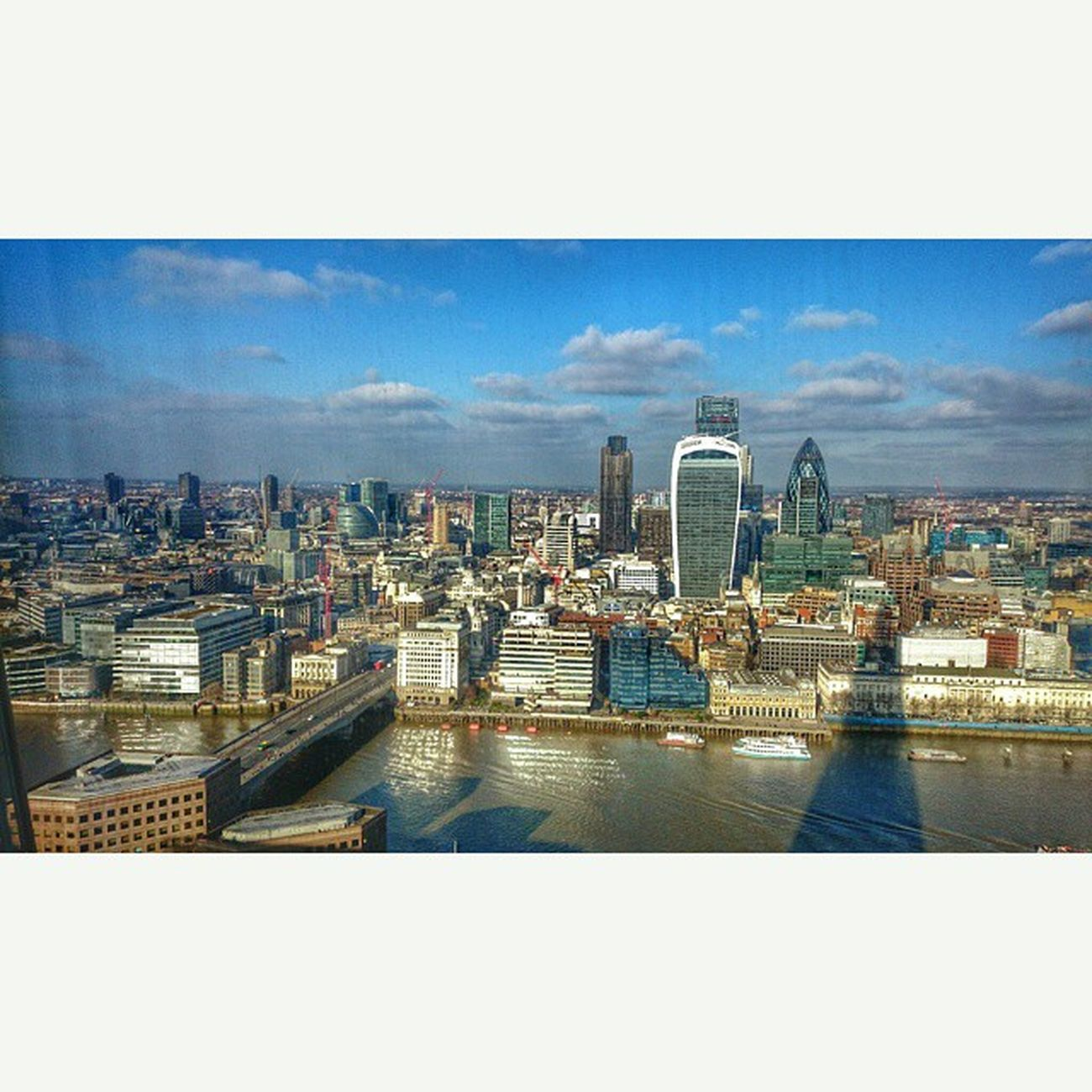 Squareinstapic view from The Shard London Uk