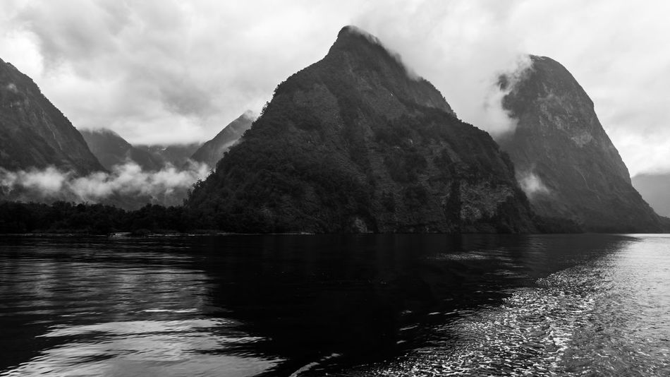 Beauty In Nature Black And White Black And White Photography Cloud - Sky Day Doubtful Sound Fjord Lake Landscape Mountain Nature No People NZ Outdoors Scenics Sky Sound South Island New Zealand Tranquility Water Welcome To Black The Secret Spaces