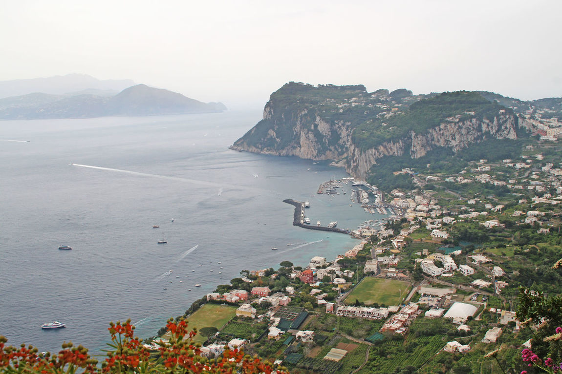 Capri view Beauty In Nature Capri Capri, Italy Cityscape Coastline Elevated View Hill Idyllic Landscape Mountain Nature Nature Nature Photography Nature_collection Outdoors Remote Rock Formation Scenics Sky Town View View From Above Water