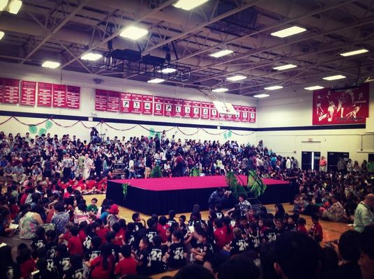 Mayday  at Iolani School Gymnasium by Megan Nakai