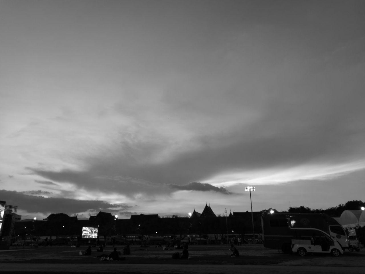 Serene Sky Sky Outdoors Monochrome Dawn