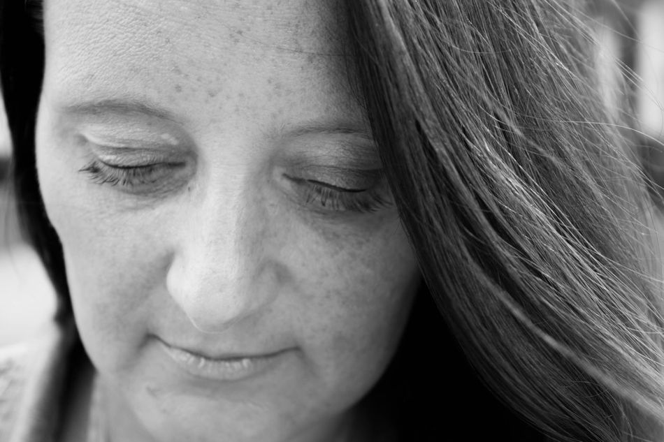 Black and white portrait One Person Smiling Portrait Human Face Mature Adult Close-up Happiness Headshot Cheerful Looking At Camera Real People Human Eye One Woman Only Women Human Body Part Only Women Outdoors Adult Adults Only Day Female Black & White Black And White Blackandwhite