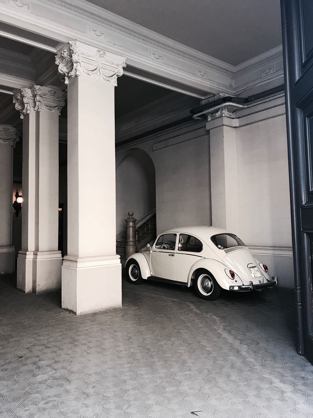 Car Architectural Column Indoors  Built Structure Architecture Day No People Volkswagen Cars Garage Retro Barcelona Barcelona, Spain