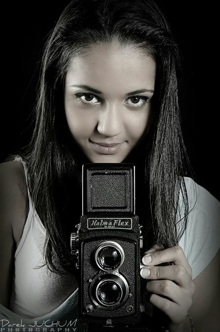 Black And White Pritty_woman Pritty Pritty Girl Old Camera Nice Amazing Eyes Amazing Little Color