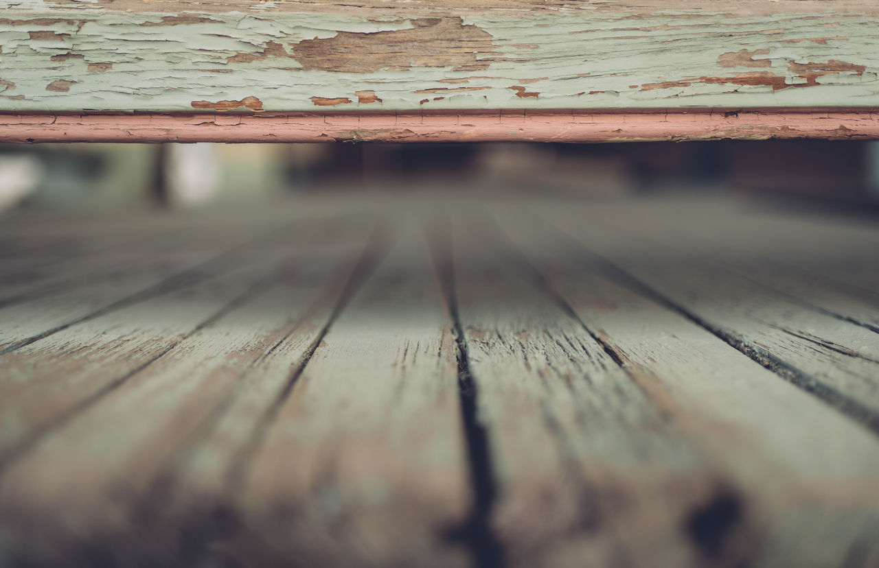 Close-up Day Deck Down Low Green Low Angle Of View No People Outdoors Selective Focus Wood - Material