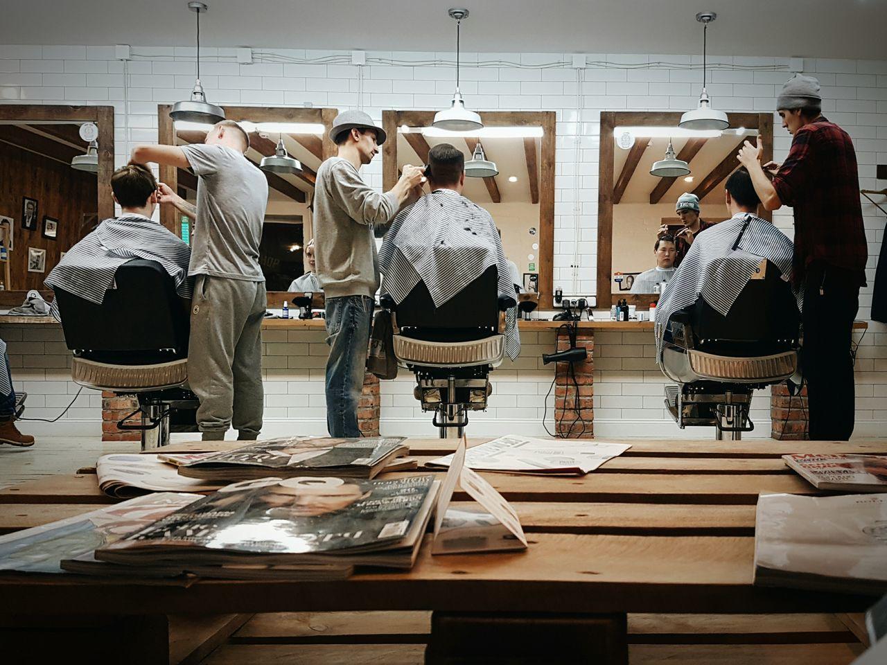 Barbershop Hairdresser Sunday Hairdressing Haircuts Chopchop Eyeemphoto