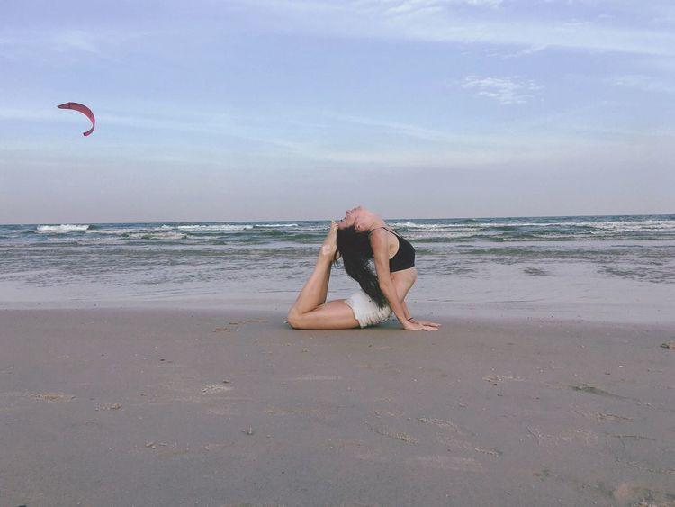 Beach Sky Sand Thailandtravel Travel Yogalover Yogatime Yoga Pose Yogaphotography Yoga ॐ Yoga Practice Yogaeveryday Yogaeverywhere Yogainspiration Yogalove Yoga The Gulf Of Thailand Vacations