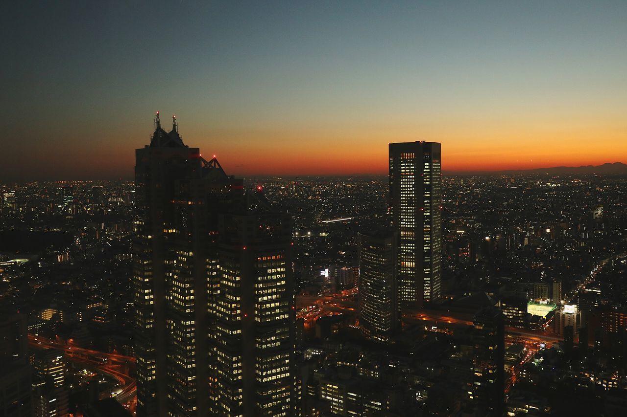 Cityscape Skyscraper Sky Urban Skyline Sunset Tokyo Japan Cityscape Sunsetsilhouettes Sunsets SHINJYUKU