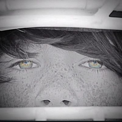1 more edited close up of those beautiful eyes he gets from his mom and those cute freckles that he hates!