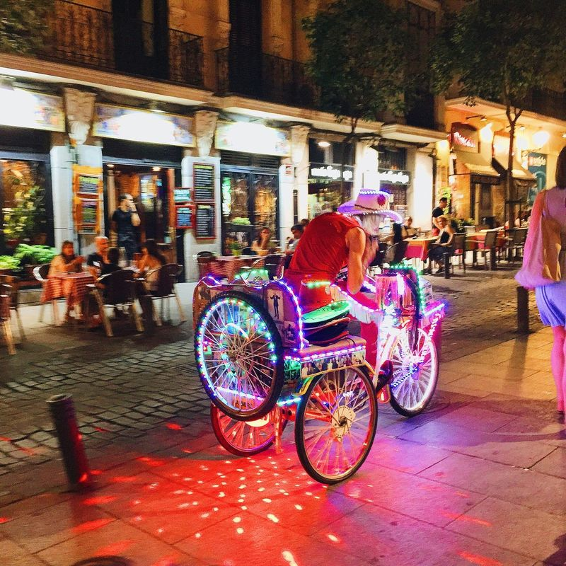 Capturing Freedom Freedom Of Expression Neverstopexploring  Never Too Old  Never Too Late  Never Give Up Heres To Never Growing Up Night Lights Bicycles Madrid