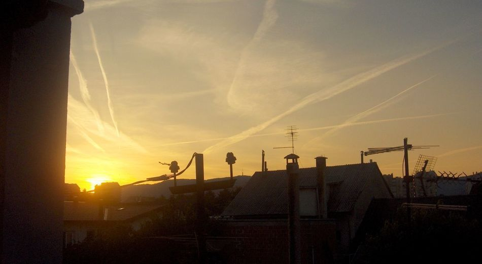 Aircraft Airplane Chemical Sky Chemtrails Sunset