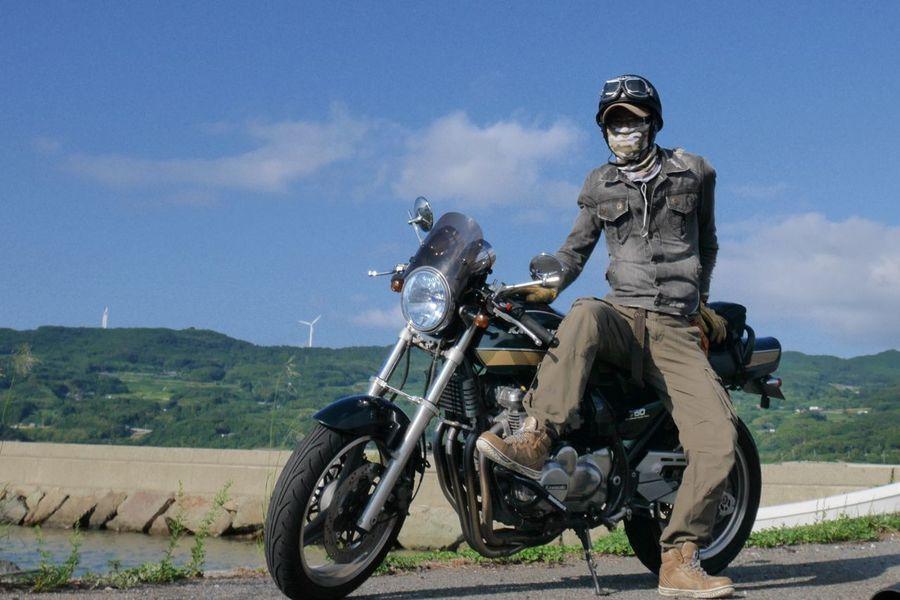 Motorcycle Biker Sky Adventure Sea And Sky Motolife Kawasakistyle ThatsMe Kawasaki Zephyr Motorbike Rider
