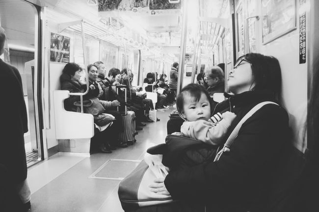 this kid freaked me out. Looked like want to kill us Kids Baby Creepy Face Blackandwhitephotography Streetphoto_bw Train JR Line Tokyo Tokyo Street Photography Tokyo,Japan Monochrome Black & White Peoplephotography Ugly Face Taking Photos Check This Out