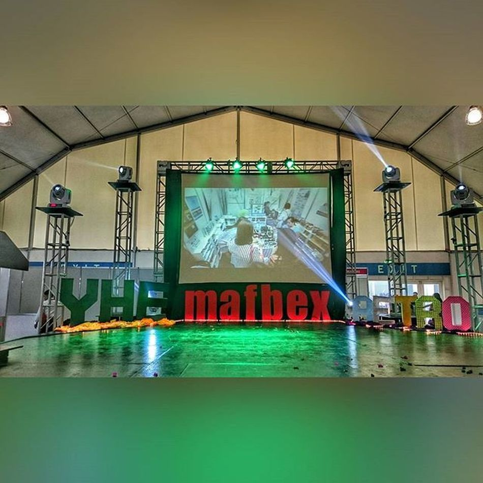 Main Stage for 43rd Young Hoteliers Exposition (YHE) 📷 . . . MAFBEX YHE 9thMAFBEX 43rdYHE benilde hoteliers themanansala