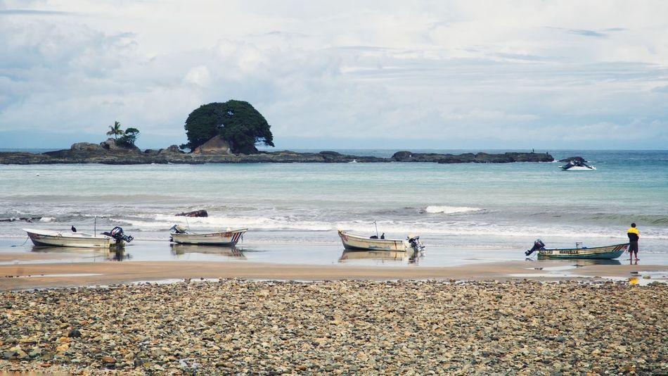 Beautiful stock photos of costa rica, Beach, Beauty In Nature, Boat, Cloud - Sky