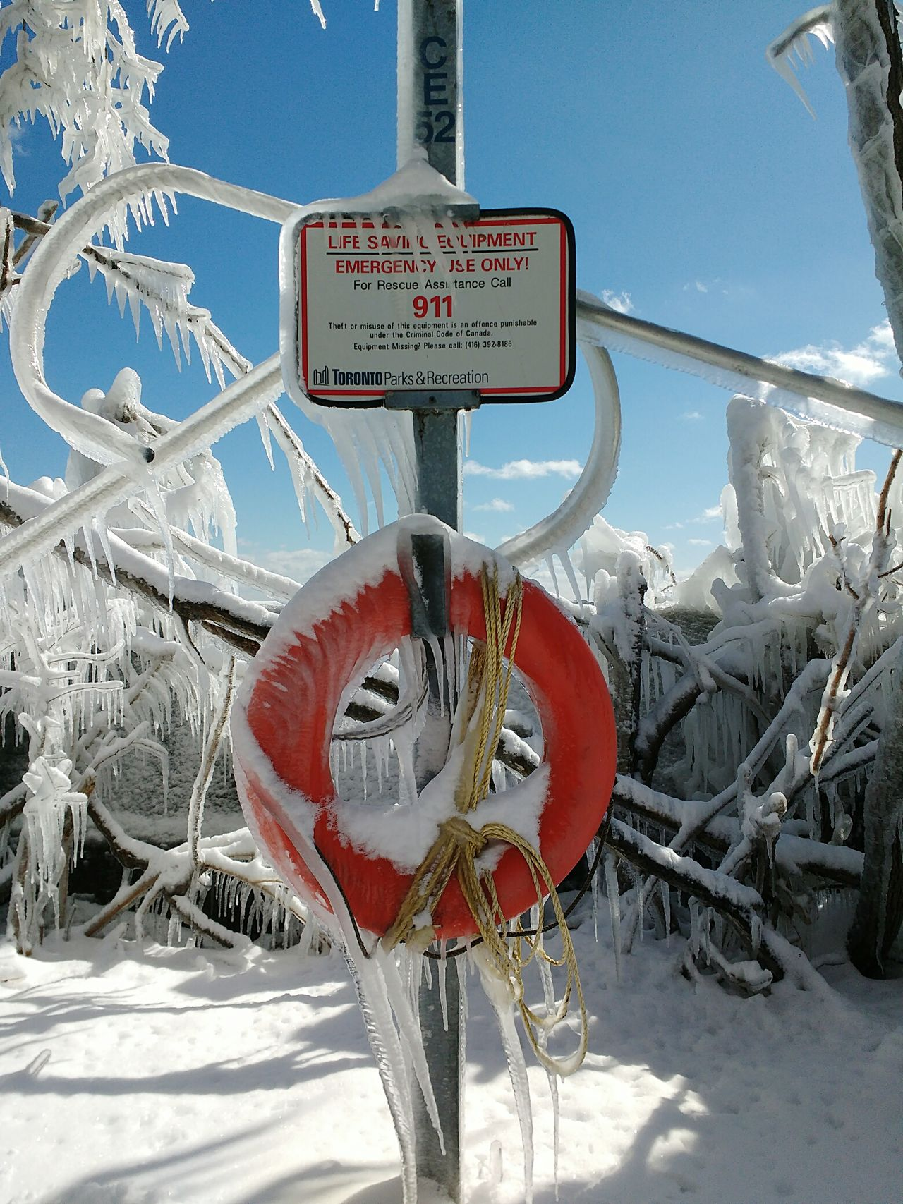 Frozen life saving device Frozen Safety 911 Floatation Device Life Preserver Frozen Nature Frozen In Time Eye4photography  EyeEm Best Shots Rope Toronto Canada Coast To Coast Toronto Islands Lake Ontario Great Lakes Frozen Landscape  Frosty Trees Ontario Canada EyeEm Gallery Ice Getting Inspired Frozen Sign Popular Photos Snow Sports
