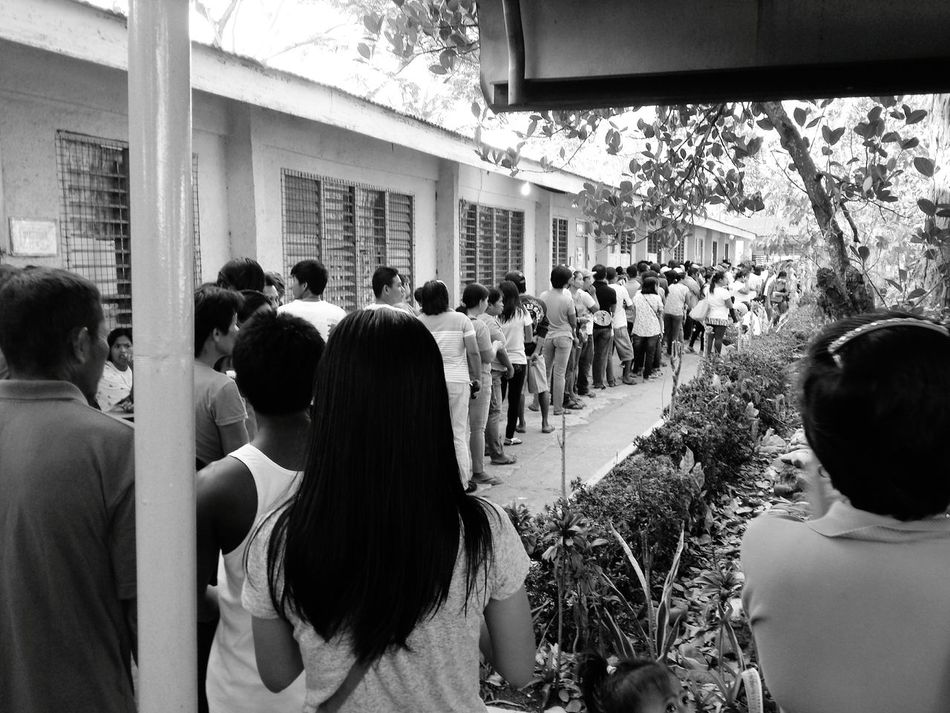A long line of voters during Philippine elections. Philippines Election Day Bacolod City First Eyeem Photo