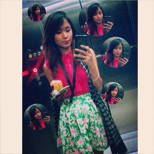 Selfie Pink Floralskirt Summer ootd fashion vintage MeTime wiwt outfit hairstyle tumblr