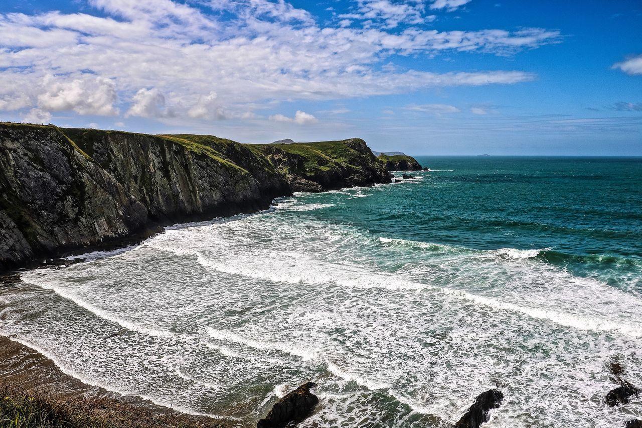 Beach Beauty In Nature Coast Coastline Idyllic Nature Outdoors Pembrokeshire Pembrokeshire Coast Scenics Sea Wales Wales❤ Water