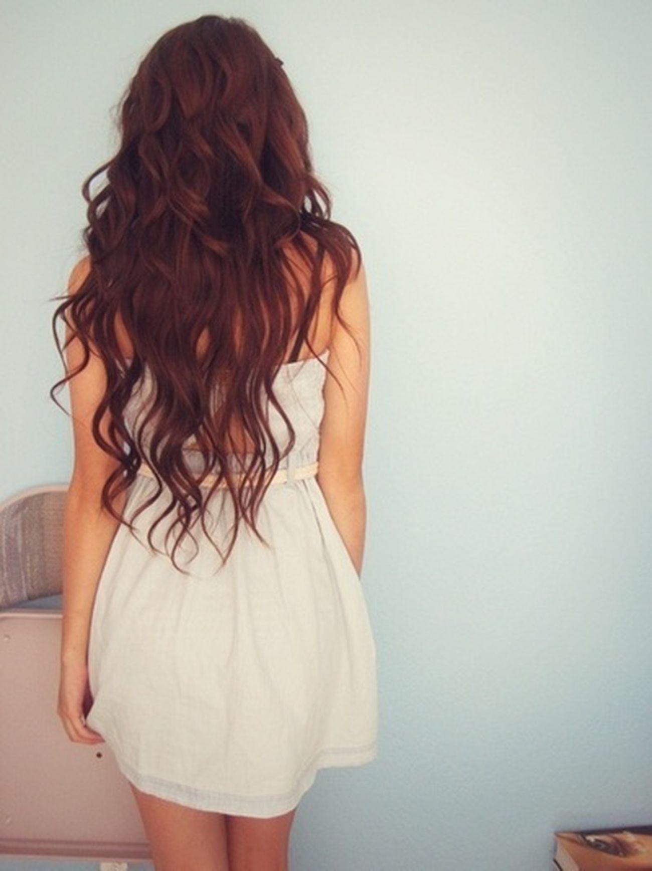 In A White Dress Long Hair Proud To Be Croatian♥ Pretty Girl