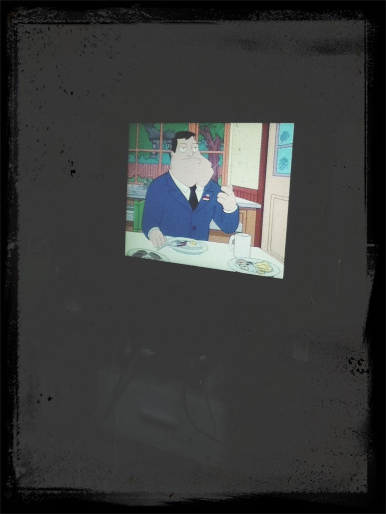 Looking American Dad with my friends.