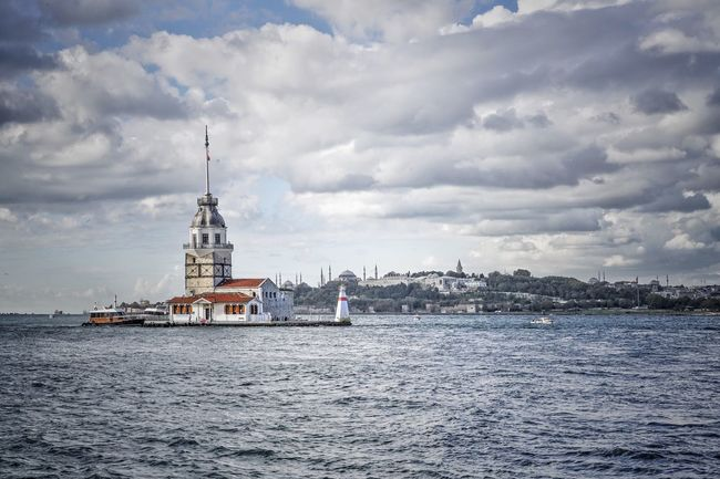 Maidentower Maidenstower Maiden Tower Tower Istanbul Turkey Landmark Landmarks Sea Bosphorus Bosporus Europe Aisa Eurasia City Sky Türkei Outdoors Cloud Building Seightseeing Travel
