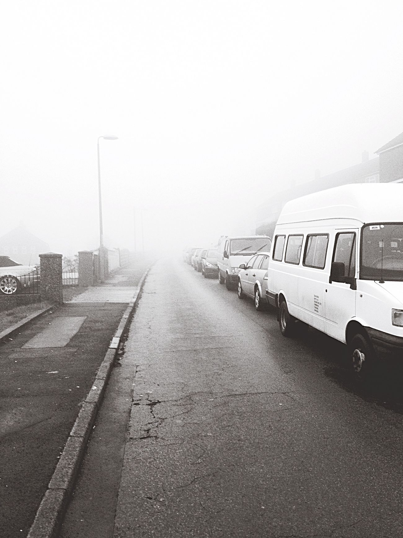 Showcase: February Fog Wales Valleys Freezing Winter Estate Cars Road Visibility