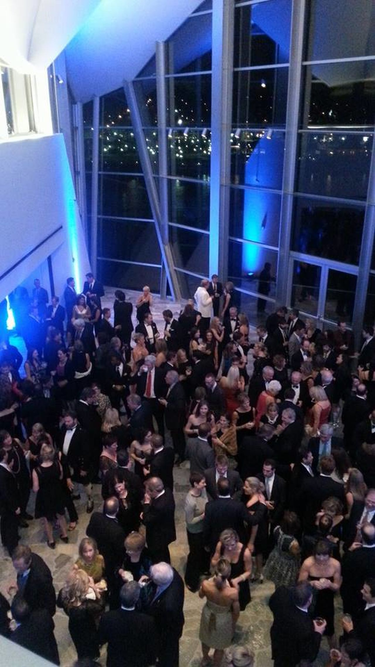 Arts Culture And Entertainment Black Tie Party Celebration Chattanooga Christmas Party City Lights Crowd Dancing Festive High Ceilings Hunter Museum Large Group Of People Party