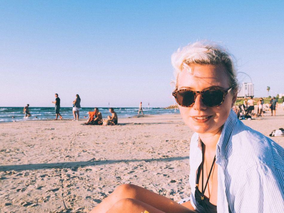 Beautiful stock photos of summer, Beach, Coastline, Incidental People, Israel