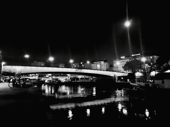 Good night. Vienna Donaukanal Black And White Eyeem Black And White