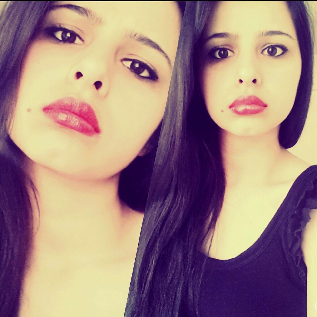 hmm peki.. Me Red Lips Uuubeybi Girl