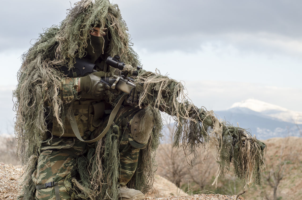 Sniper ghillie suit rifle Ghilli Ghillie Suit!!! In Infant Protective Wo Shootermag Shooting Sniper Rifle  Special Special For Some One Violence ViolenceBegetsViolence Violet By Motorola