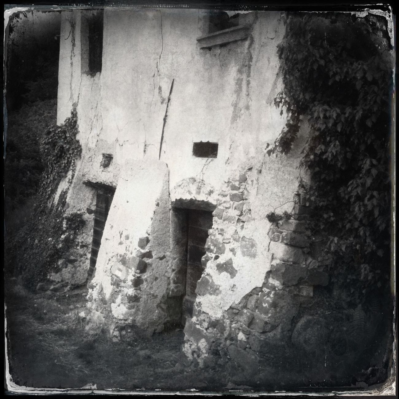 Abandoned house near the woods Hipstamatic Blackandwhite The_guido