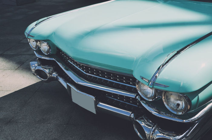 Blue Cadillac Car Cars Classic Classic Car Classic Cars Close-up Collection Collector's Car Day Lamps Land Vehicle Luxury Luxurylifestyle  Mode Of Transport Motorsport No People Old-fashioned Retro Retro Styled Shadows & Lights Shiny Transportation Vintage Cars Lieblingsteil