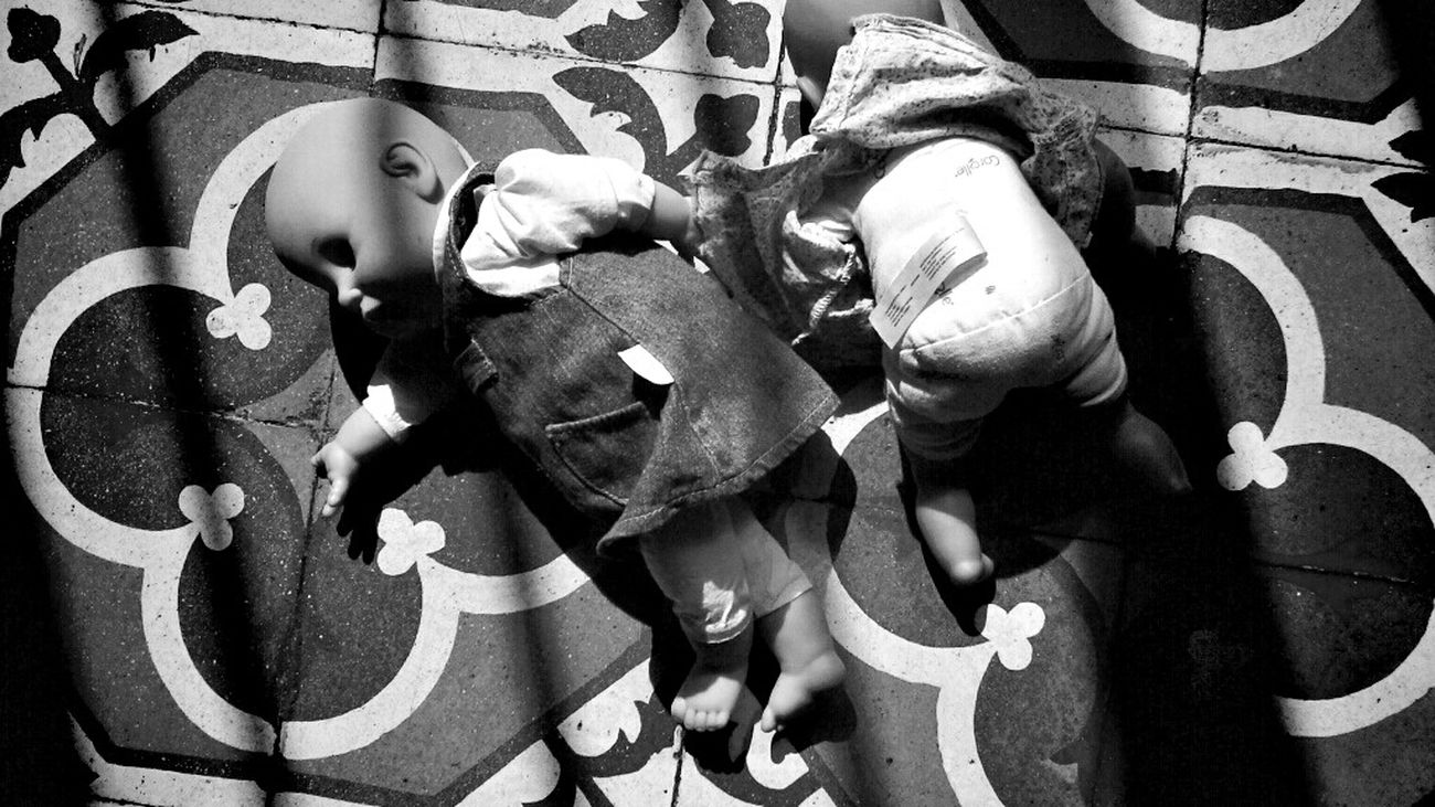 Dolls on the floor Getting Inspired