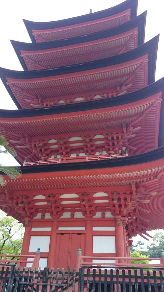 Hiroshima -Miyajima Japan Five-storied Pagoda Holiday Sightseeing