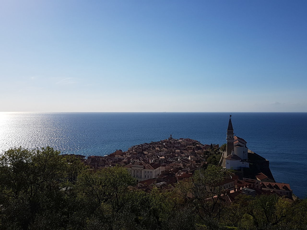 Sky Sea Clear Sky Building Exterior Outdoors Horizon Over Water No People Cityscape Architecture Piran/Pirano
