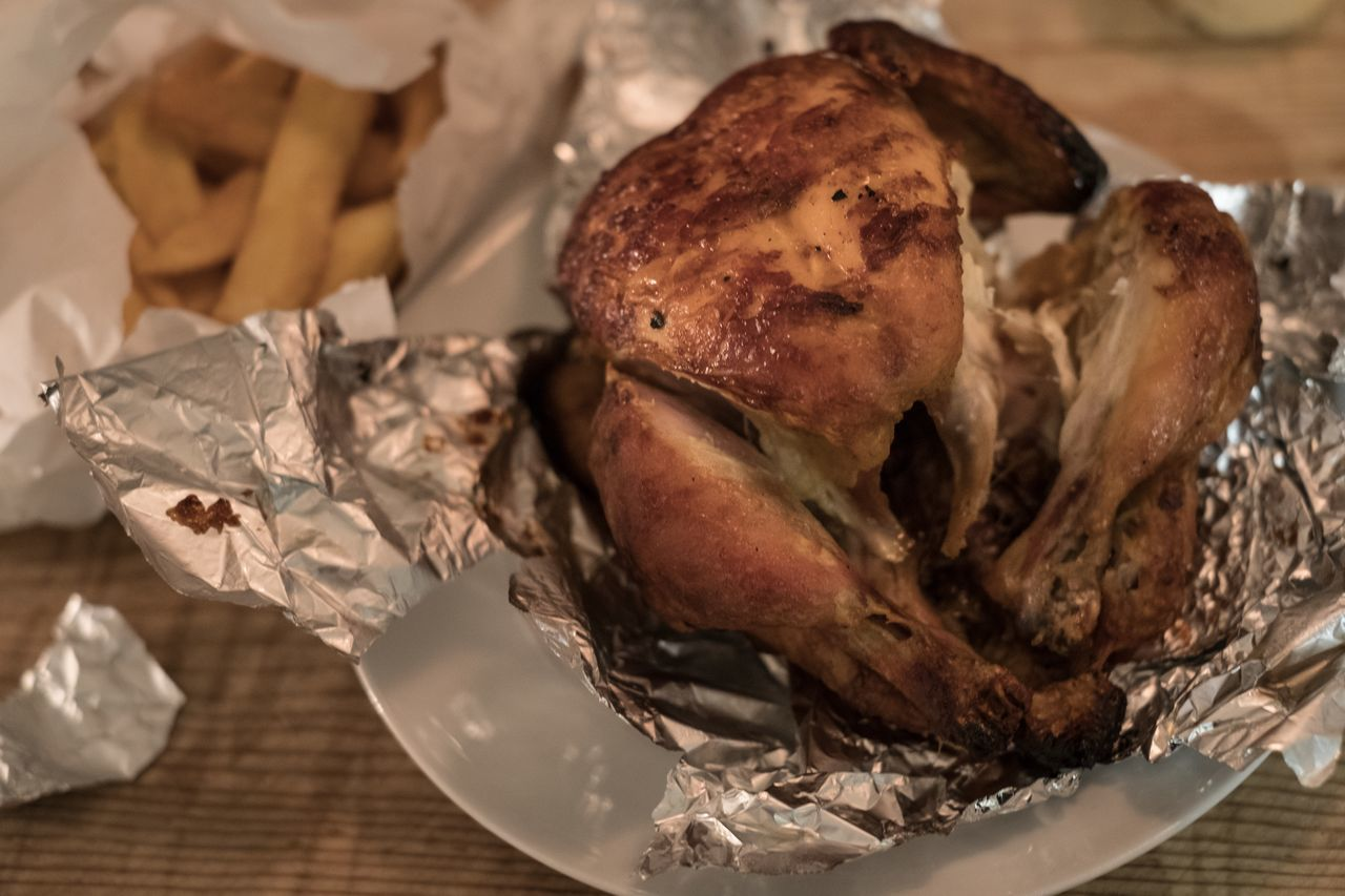 food, food and drink, indoors, freshness, no people, close-up, ready-to-eat, roast chicken