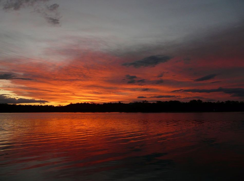 Beauty In Nature Calm Cloud Cloud - Sky Cloudy Dramatic Sky Idyllic Majestic Nature No People Non-urban Scene Orange Color Outdoors Reflection Rippled Scenics Sky South Coast NSW Sunset Tranquil Scene Tranquility Tuross Lake Water