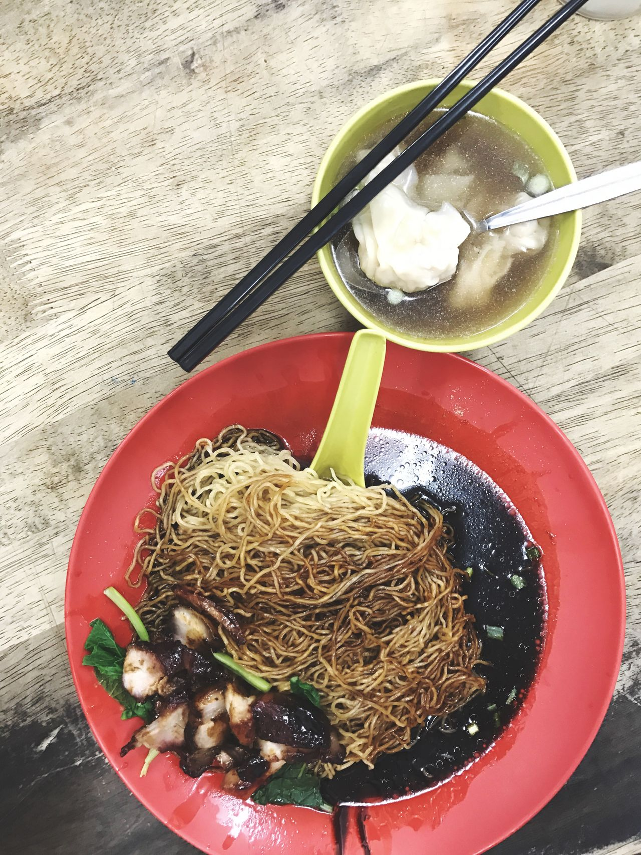 Chinese Food Asian  Noodle Dumplings Pork Cha Siew Soup Mee Chinese Food