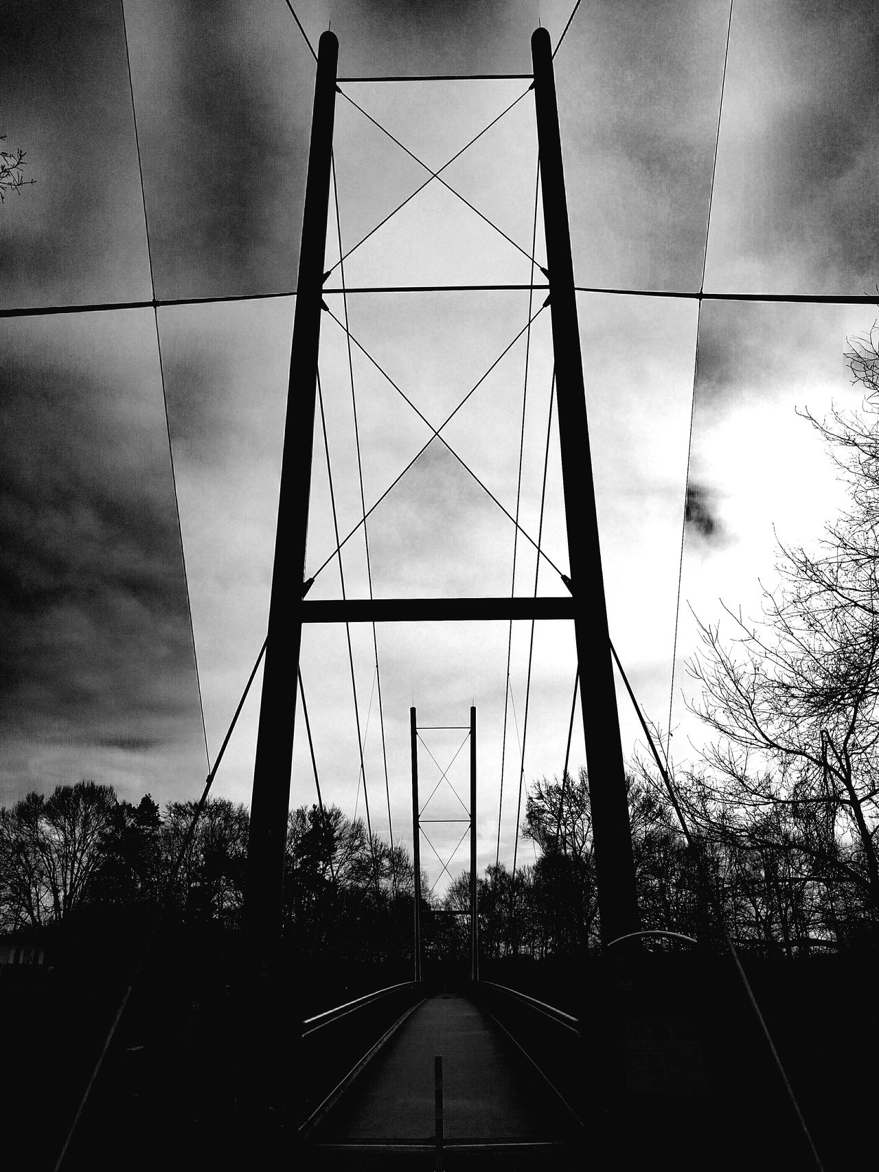 Experimental Experiment Experimenting... Bridge Bridges Bridge View No People Outdoors Day Blackandwhite Photography Blackandwhitephotography Blackandwhite Black And White Photography Bridge Photography HuaweiP9 HuaweiP9Photography Huaweiphotography Huawei P9 Leica Abstract Abstractions Abstaction