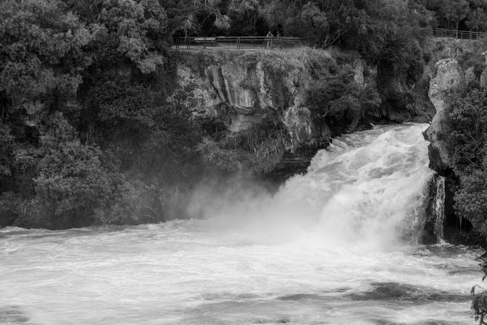 Huka Falls, New Zealand Black & White Black And White Huka Huka Falls Huka Falls, NZ Monochrome New Zealand North Island NZ Rapids Waikato Waikato River Waterfall