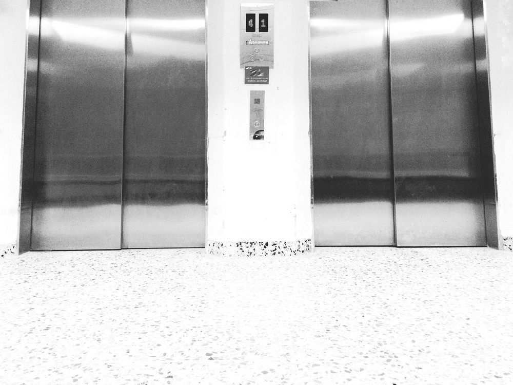 No People Day Built Structure Black And White Indoors  Door Duo Architecture Lift IPhoneography